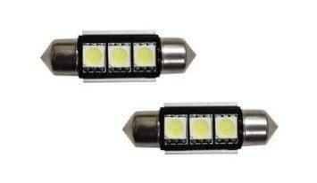 M-LINE žarnica LED 12V C5W 36mm 3xSMD 5050, bela, par - odprta embalaža