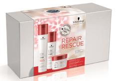 Schwarzkopf świąteczny zestaw BC Repair Rescue szampon, odżywka, maska, torba