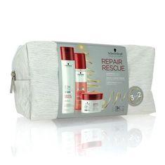 Schwarzkopf świąteczny zestaw BC Repair Rescue szampon, odżywka spray, maska, torba