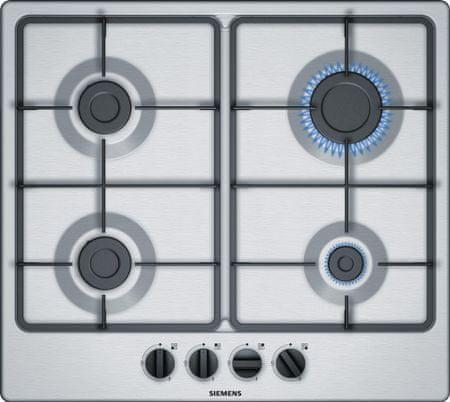 Siemens plinska kuhalna plošča EG6B5PB60, nerjaveče jeklo
