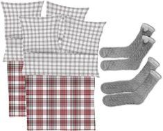 s.Oliver Flanel ágynemű, 2 db + 2 pár zokni
