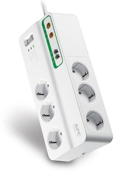 APC Home/Office SurgeArrest PMH63VT-FR, 6z s ochranou telefónneho a koaxiálneho vedenia - rozbalené