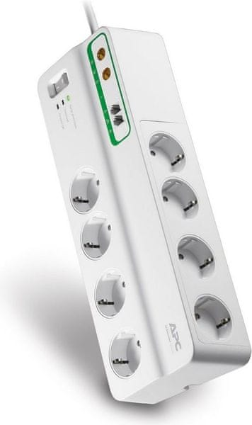 APC Home/Office SurgeArrest PMF83VT-FR, 8z s ochranou telefonního a koaxiálního vedení
