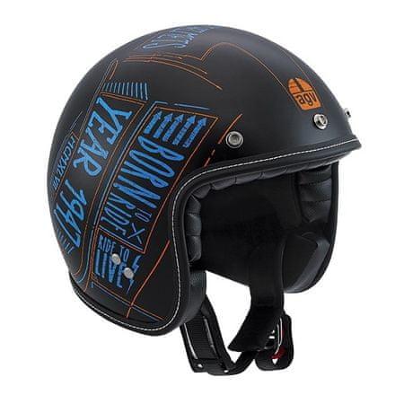 AGV motocyklová jet prilba  RP60 Blackboard