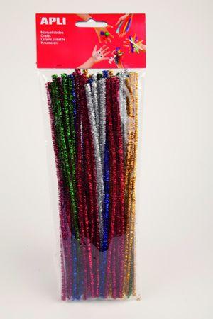 Modelovací drátky APLI se třpytkami barevný mix/50 ks