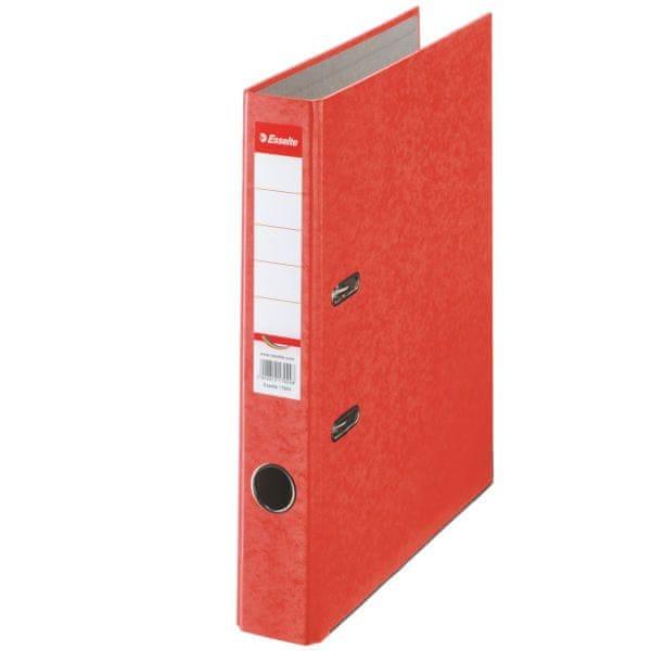 Pořadač pákový papírový Rainbow A4 5 cm červený