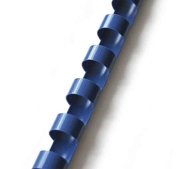 Hřbet pro kroužkovou vazbu 16 mm modrý / 100 ks