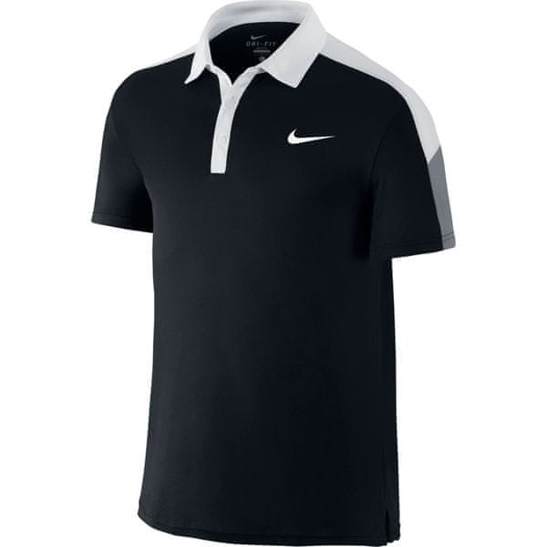 Nike Team Court Polo Black/White XL