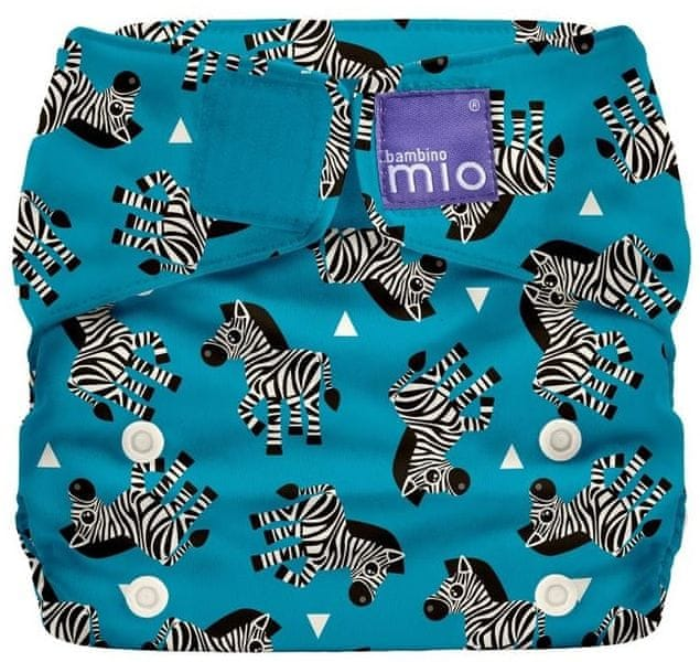 "Bambinomio Miosolo látková plenka ""Zebra Crossing"""