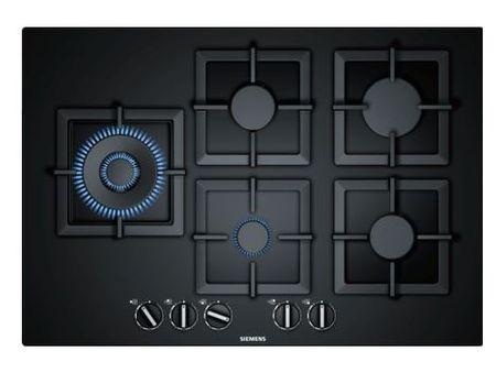 Siemens plinska kuhalna plošča na kaljenem steklu EP7A6SB20, črna