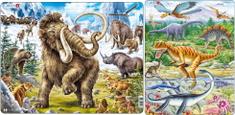 LARSEN Puzzle set Mamut a dinosaury