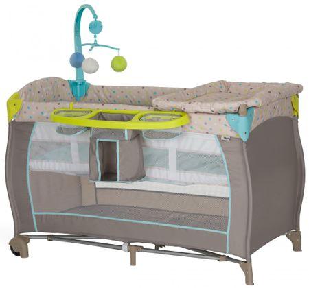 Hauck prenosna otroška posteljica, Multi Dots Sand