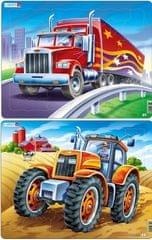 LARSEN Puzzle set Kamión a traktor