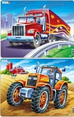 LARSEN Puzzle set Kamion a traktor