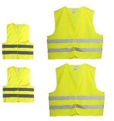 Varnostni telovniki odsevni, rumeni, družinski komplet, 4 kosi