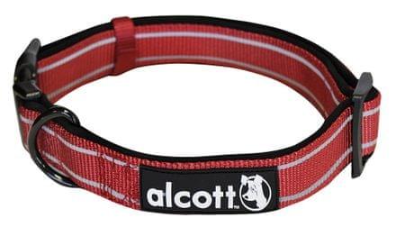 Alcott najlon ovratnica z odsevnimi elementi, rdeča, L