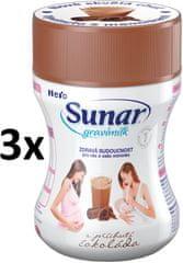 Sunar Gravimilk s přichutí čokolády 3x300g