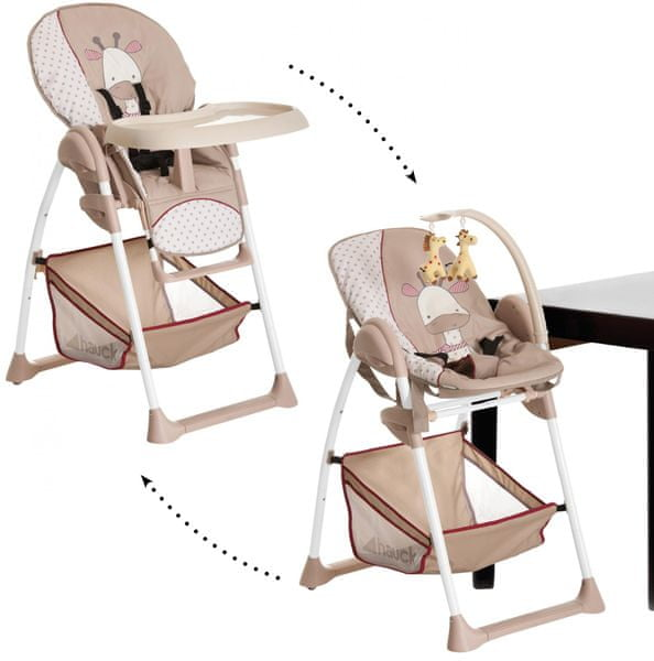 Hauck Sit'n Relax jídelní židlička 2v1, 2017 - Giraffe
