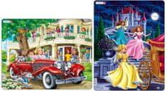 LARSEN Puzzle set Holky v kabrioletu a Tři princezny