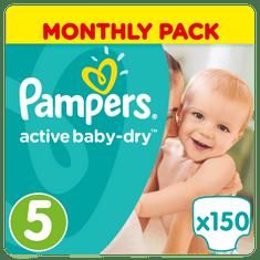 Pampers Pieluchy Active Baby 5 Junior - 150 sztuk