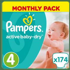 Pampers Pieluchy Active Baby 4 Maxi - 174 sztuki