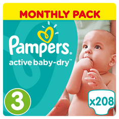 Pampers Pieluchy Active Baby 3 Midi - 208 sztuk