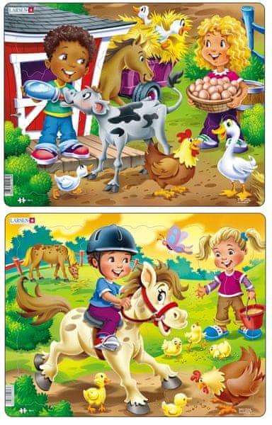 LARSEN Puzzle Karmienie zwierząt i jazda konna
