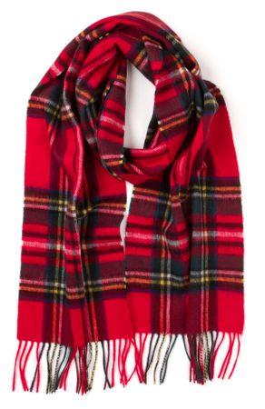 Barbour červená pánská šála
