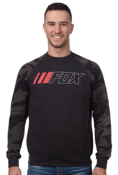 FOX pánská mikina Crewz Crew Fleece S černá