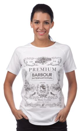 Barbour dámské tričko S bílá