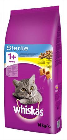 Whiskas mačja hrana Sterile, 14 kg