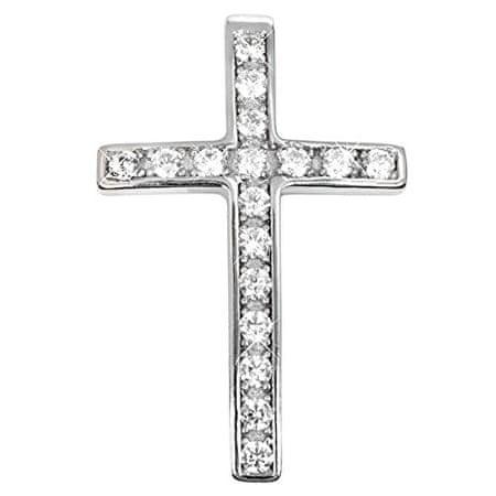 Troli Stříbrný přívěsek křížek s krystaly 446 001 00352 04 stříbro 925/1000