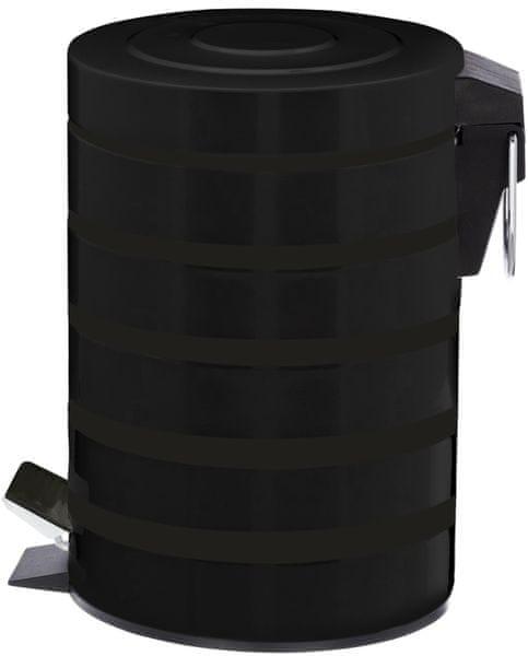 Time Life Odpadkový koš 3 l černá