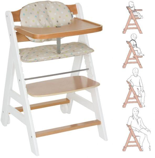 Hauck Židlička Beta+ 2017, dřevěná White Nature