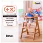 10 - Hauck Židlička Beta+ 2017, dřevěná White Nature