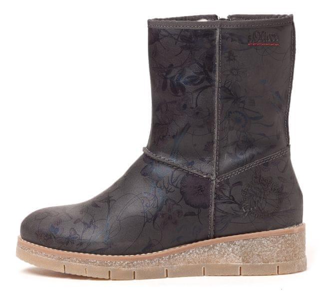 s.Oliver dámská kotníčková obuv 38 tmavě šedá