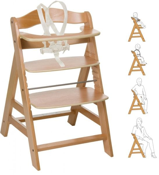 Hauck Židlička Alpha+ 2017 dřevěná, Natur