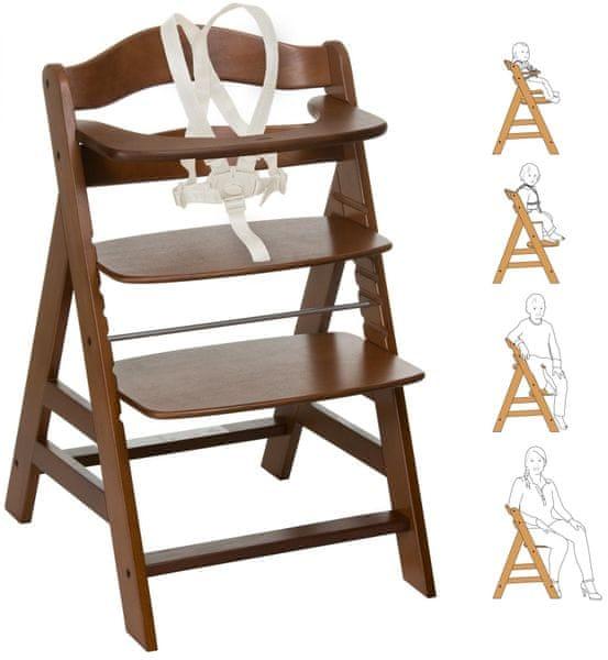Hauck Židlička Alpha+ 2017 dřevěná, Walnut