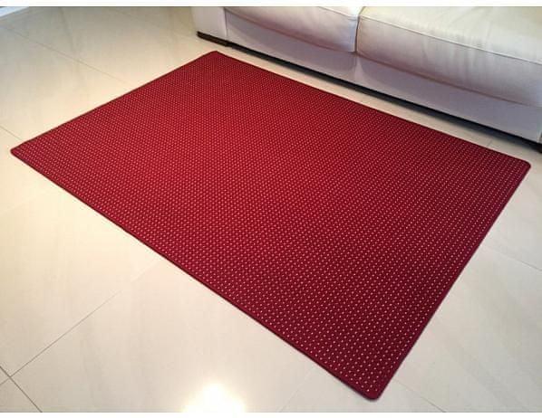 Kusový vínový koberec Birmingham 80x150 cm