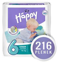 Bella Happy Pieluchy Junior Extra Big Pack - 216 szt. (4x54)