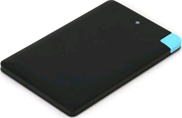 Omega Powerbank 2000 mAh Black / Alu / Li-Pol / Credit card / Lightning