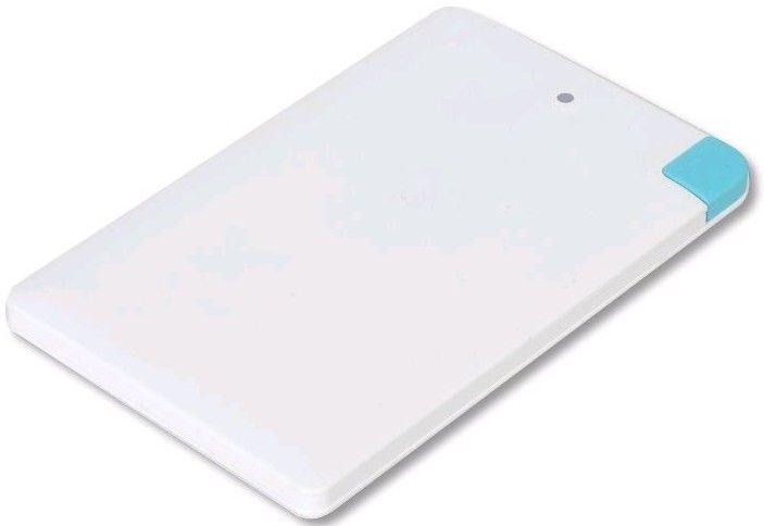 Omega Powerbank 2000 mAh White / Alu / Li-Pol / Credit card / Lightning
