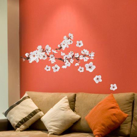 Crearreda zidna naljepnica cvjetovi trešnje