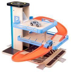 Woody Fából és műanyagból készült autós játékszett