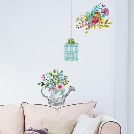 Crearreda stenska nalepka Romantično cvetje M