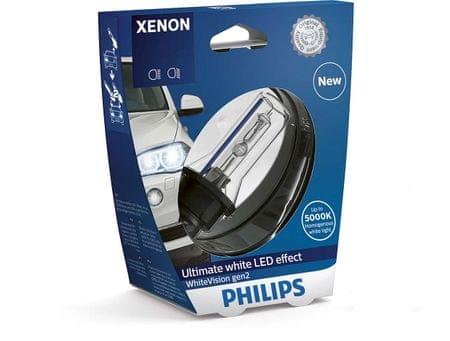 Philips žarnica Xenon D1S White Vision gen2