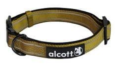 Alcott Nylonový obojok s reflexnými prvkami olivový