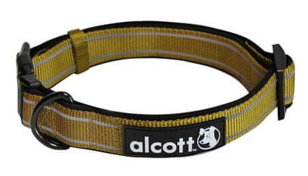 Alcott najlon ovratnica z odsevnimi elementi, olivno zelena, M