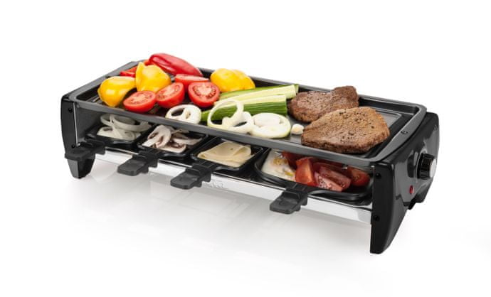 Elektrický gril v kombinaci s raclette grilem