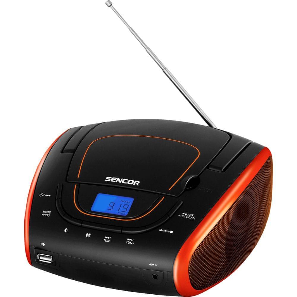 SENCOR SPT 1600 BOR, černá/oranžová - zánovní
